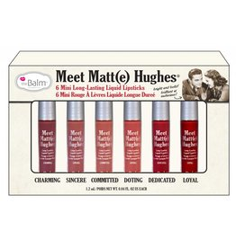 The Balm Meet Matte Hughes Set of 6 Mini Lipsticks