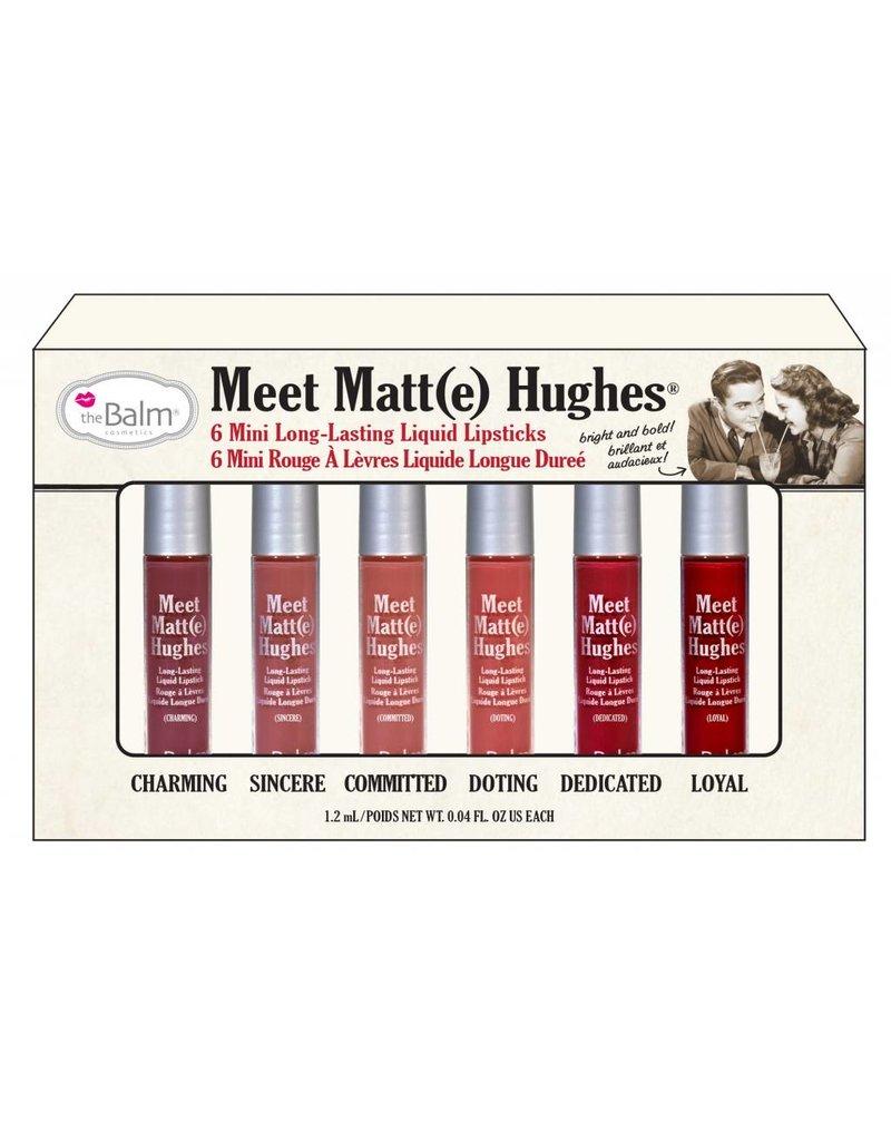 The Balm Meet Matte Hughes Set of 6 Mini Lipsticks