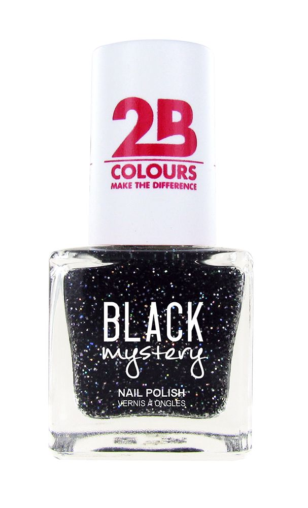 2B Cosmetics Nail polish 715 Black Mystery