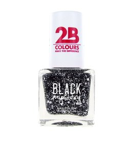 2B Cosmetics Nail polish 714 Black Mystery