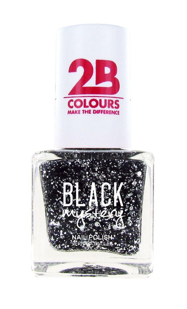 2B Cosmetics Nagellak 714 Black Mystery