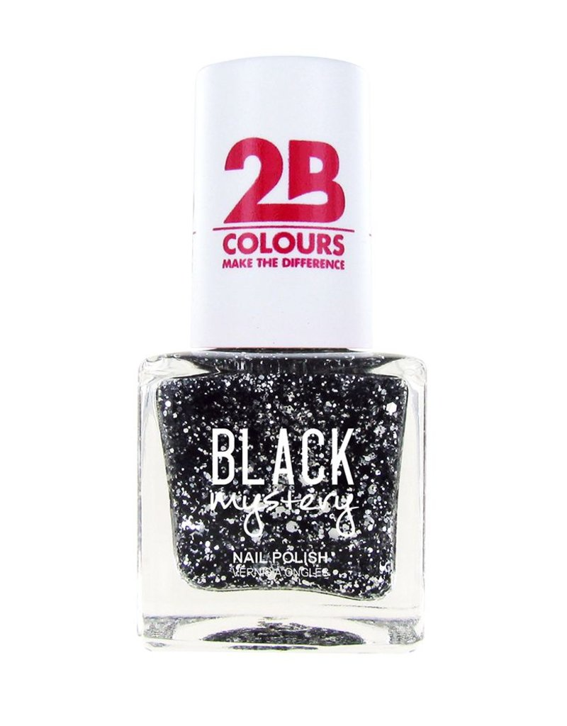 2B Cosmetics Nail polish 714 Black Mystery