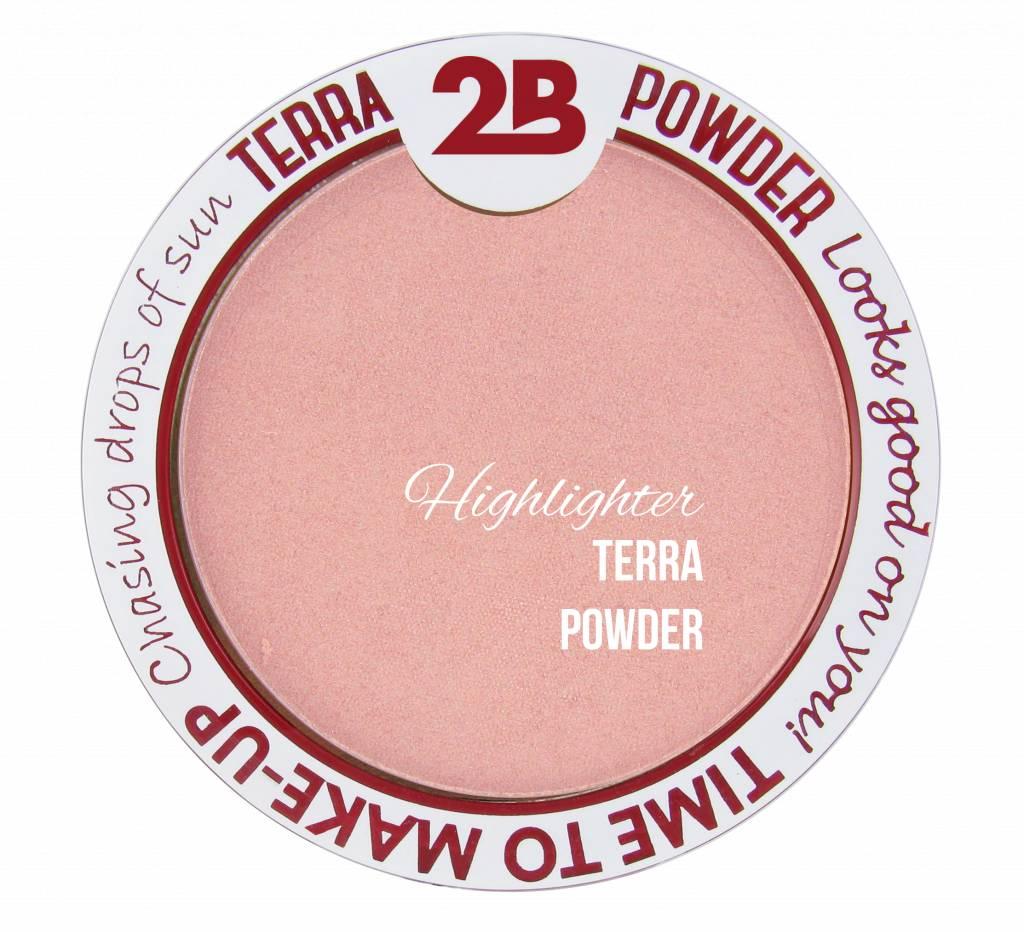 2B Cosmetics Highlighter De Luxe Aquaproof- 02 Pink Glow