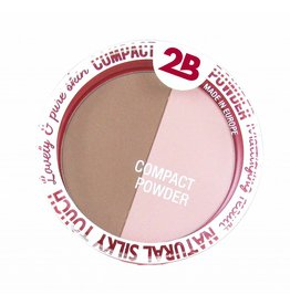 2B Cosmetics Powder Glow Duo Bronzing & Highlighting - 02 Rose