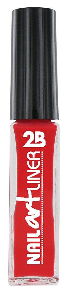 2B Cosmetics Nail Art Liner 14 Koraal Rood