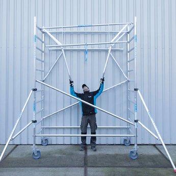 Euroscaffold Rolsteiger 75 x 305 x 4,2 m fiber decks incl enkele voorloopleuning