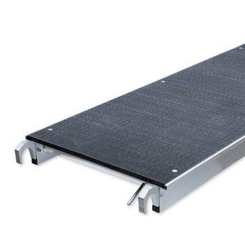 Euroscaffold Rolsteiger 135 x 250 x 14,2 m fiber decks incl enkele voorloopleuning