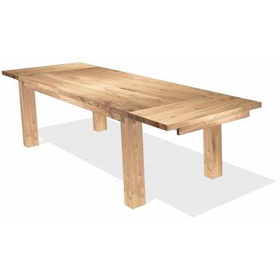 Een boomstamtafel puur natuur woodcreations for Uittrekbare tafel
