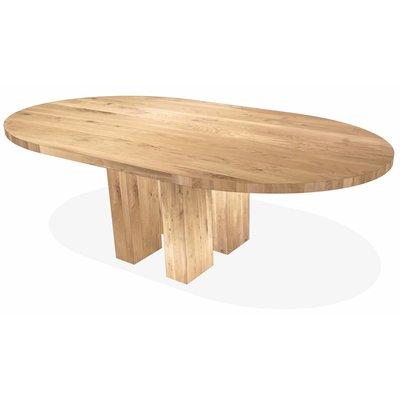 'Parijs' ovale tafel 44mm eiken poten