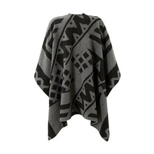 Salty Dog Poncho Grau