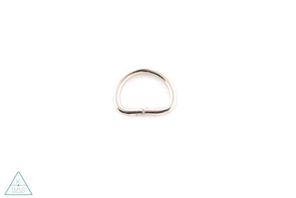 D-ring Nikkel 13mm