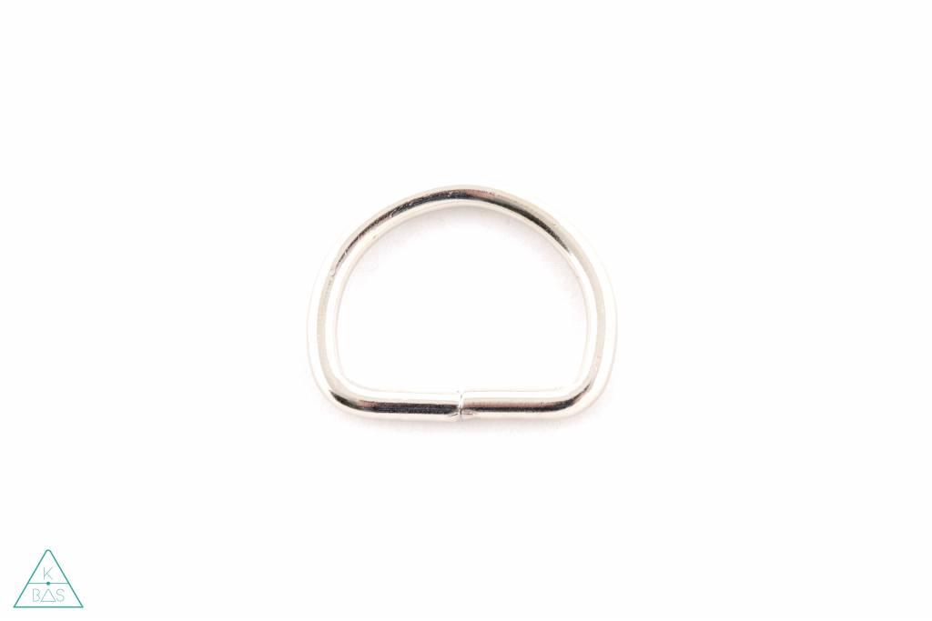 D-ring Nikkel 30mm - zwaar