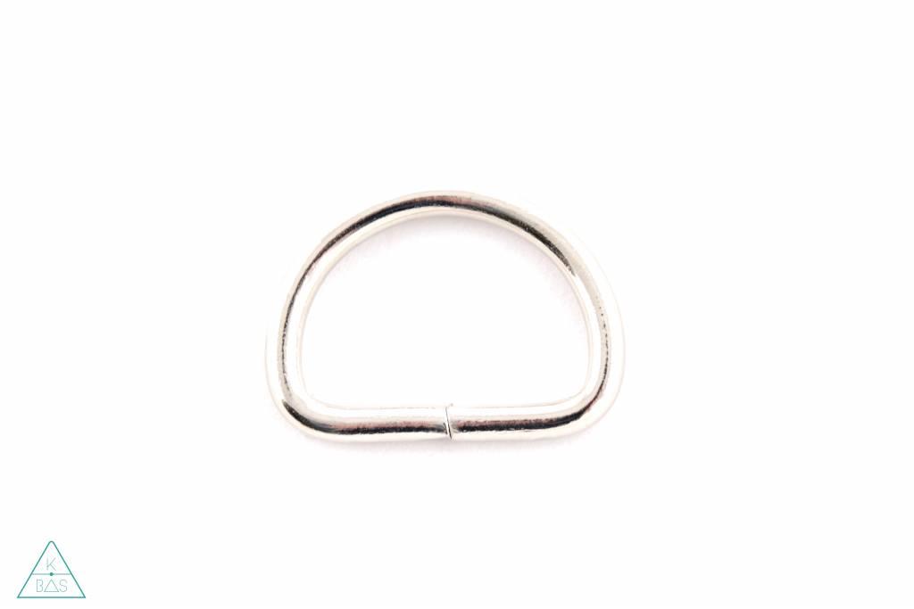 D-ring Nikkel 38mm - zwaar