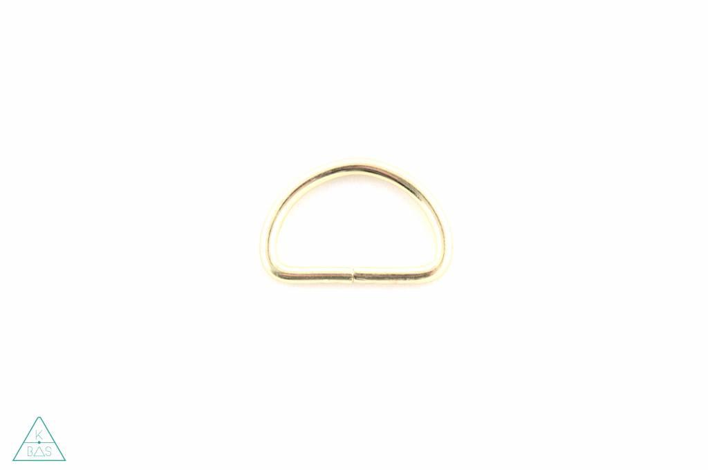 D-ring Goud 25mm - Fijn
