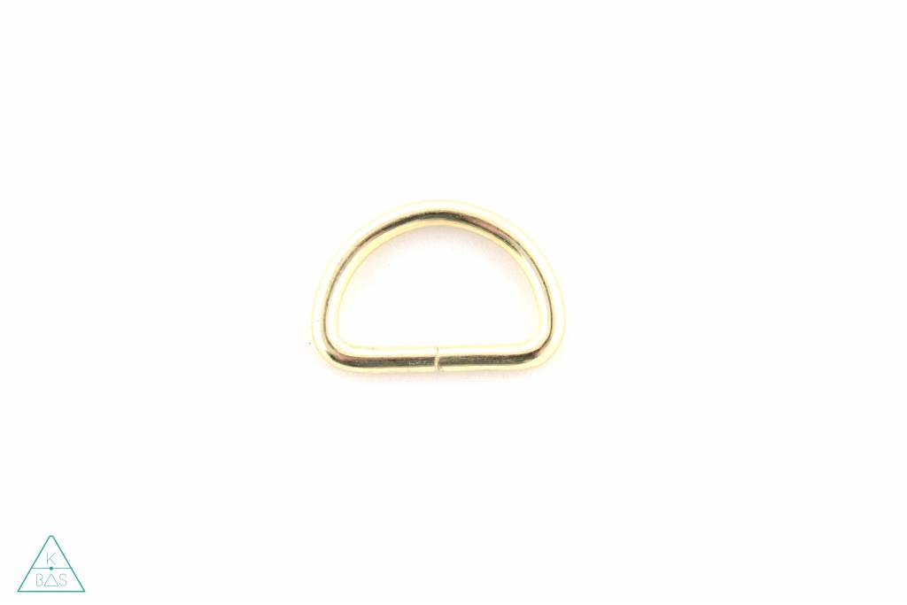 D-ring Goud 25mm