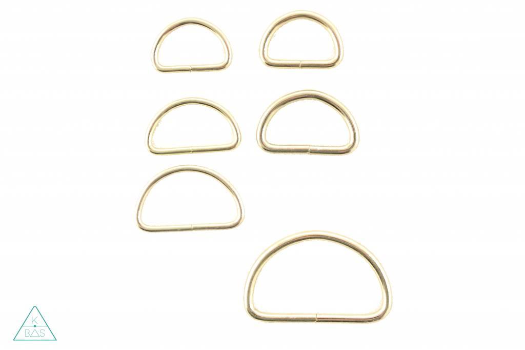 D-ring Goud 50mm
