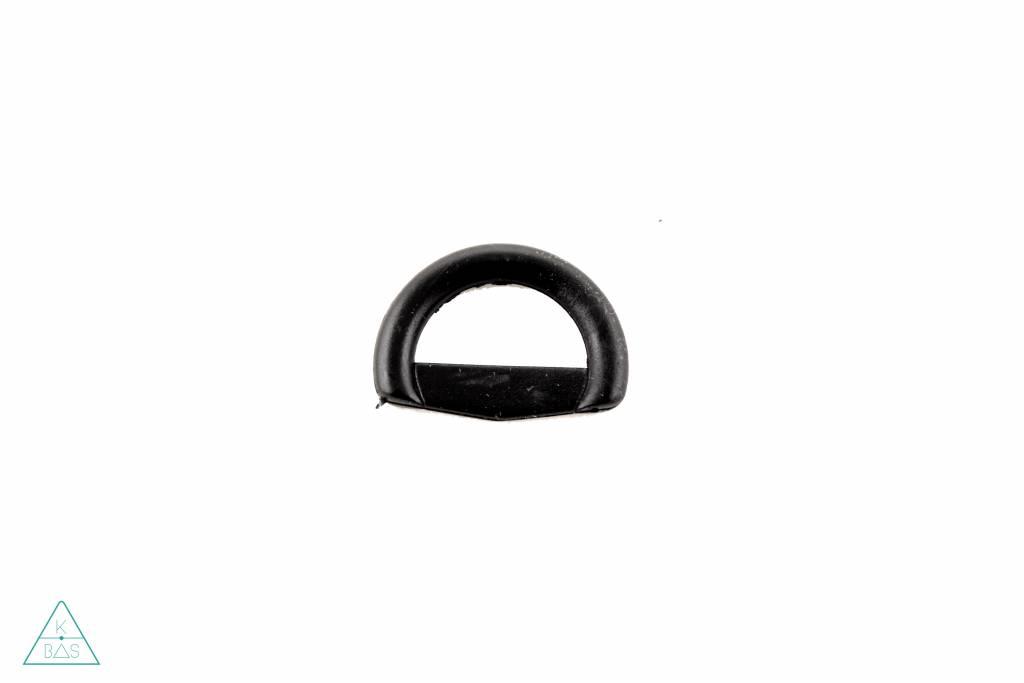D-ring Kunststof Zwart 20mm