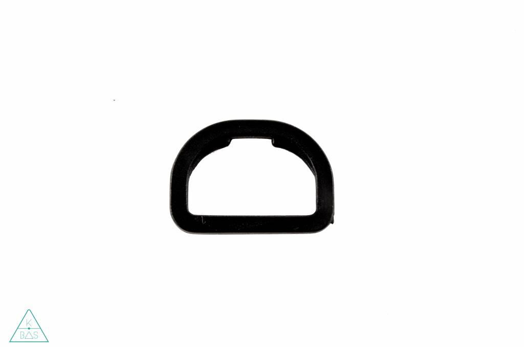 D-ring Kunststof Zwart 30mm