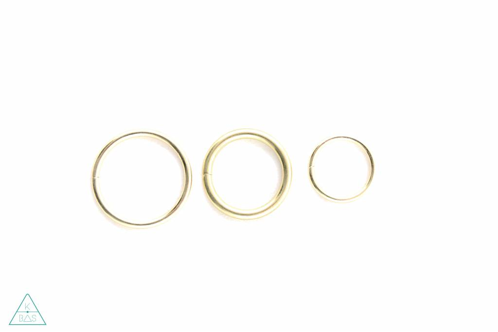 O-ring Goud 30mm - Fijn
