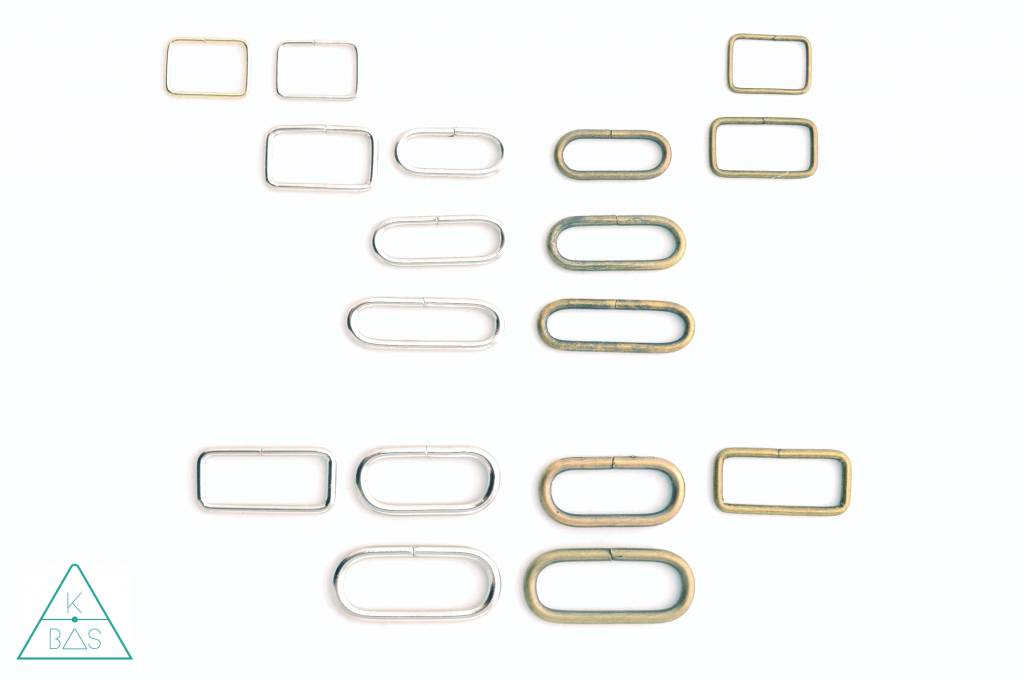 Passant Rechthoekig Brons 20mm