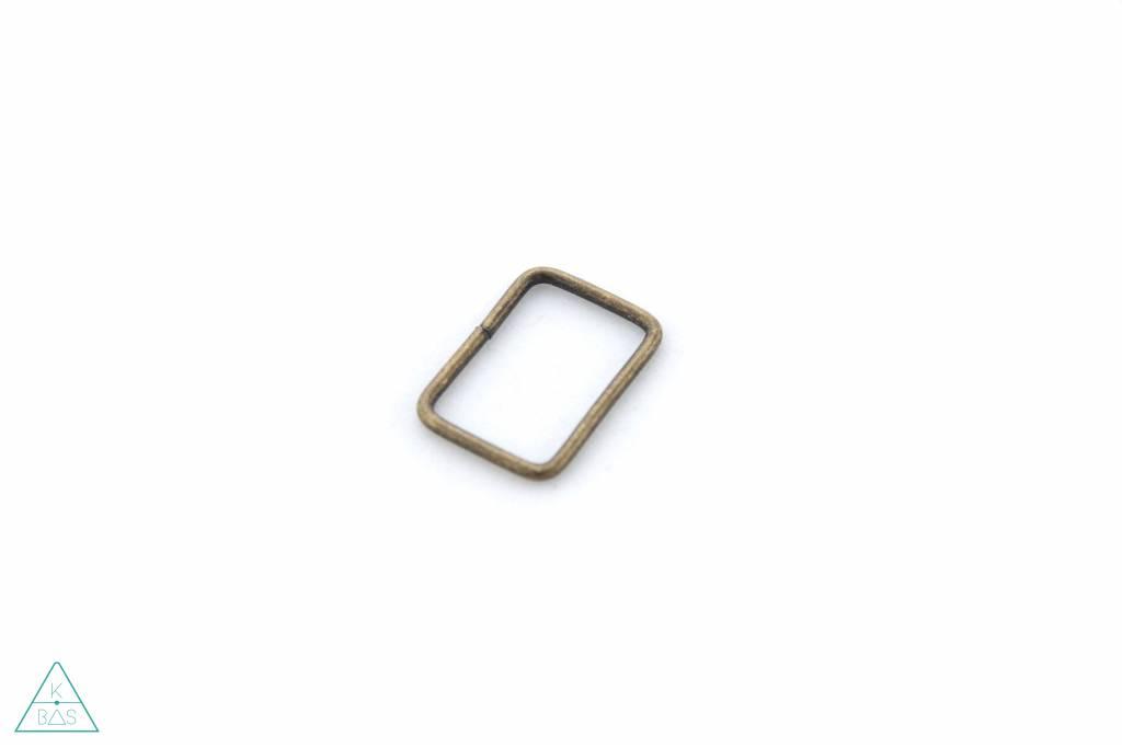 Passant Rechthoekig Brons 20mm, fijn