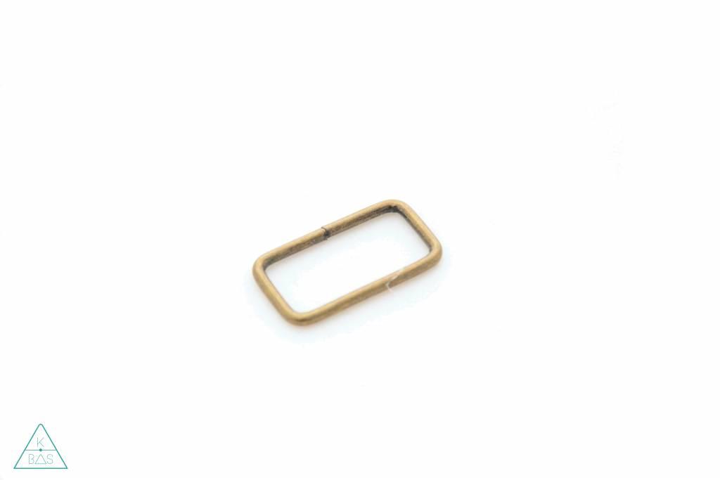 Passant Rechthoekig Brons 25mm