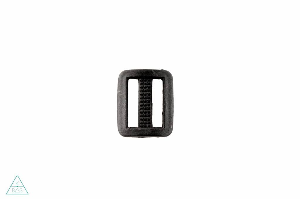 Schuifgesp Kunststof Zwart 20mm