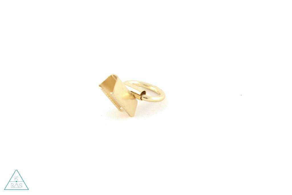 Tasklem met ring Goud 20mm