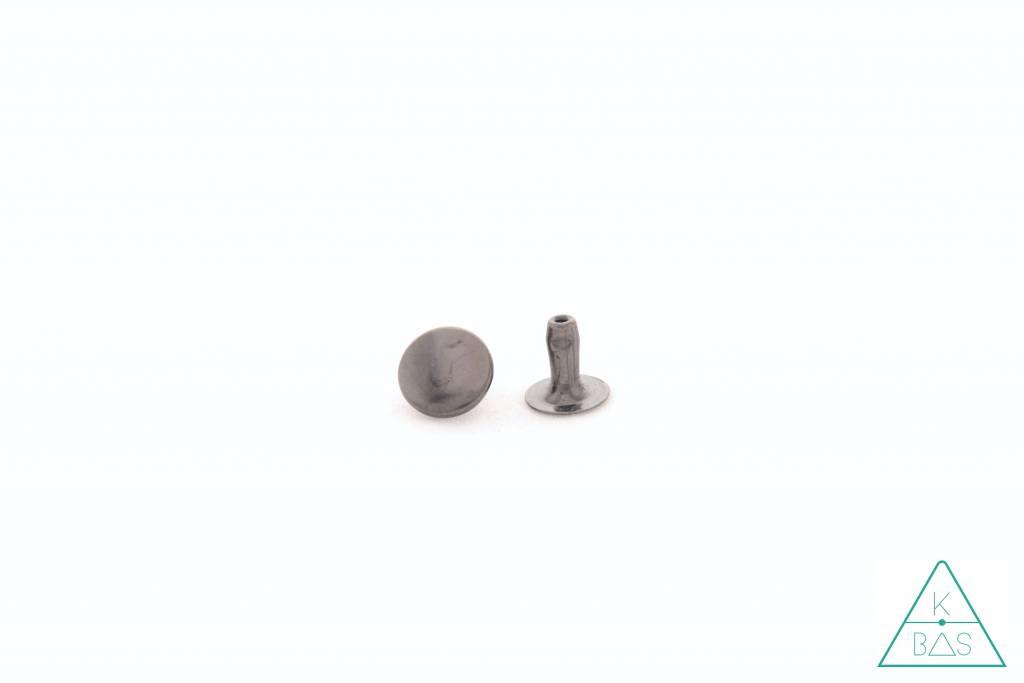 Holnieten Zwart Nikkel 9mm (10st)