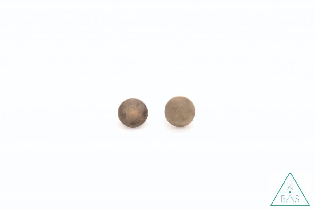Holnieten Brons 9mm - dubbele kop (10st)
