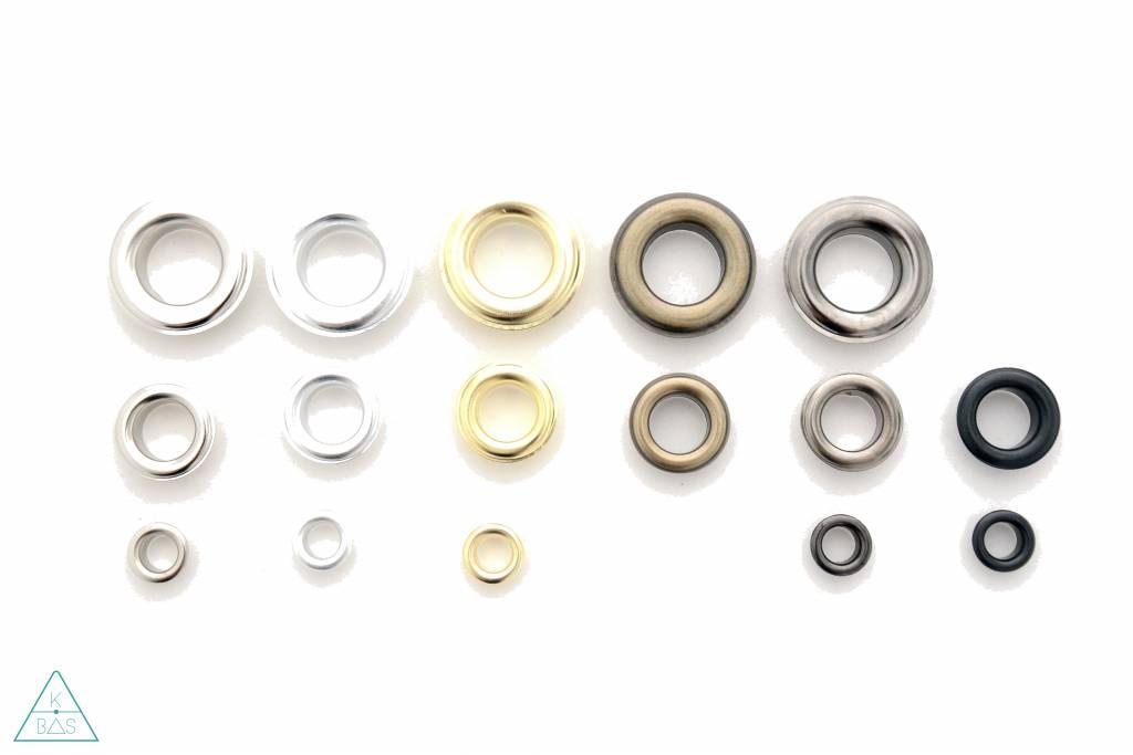 Zeilring Zwart nikkel 14mm