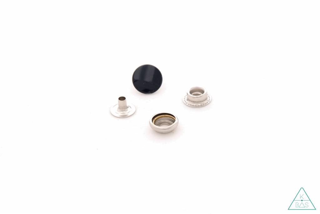Drukknopen Zwart 15mm