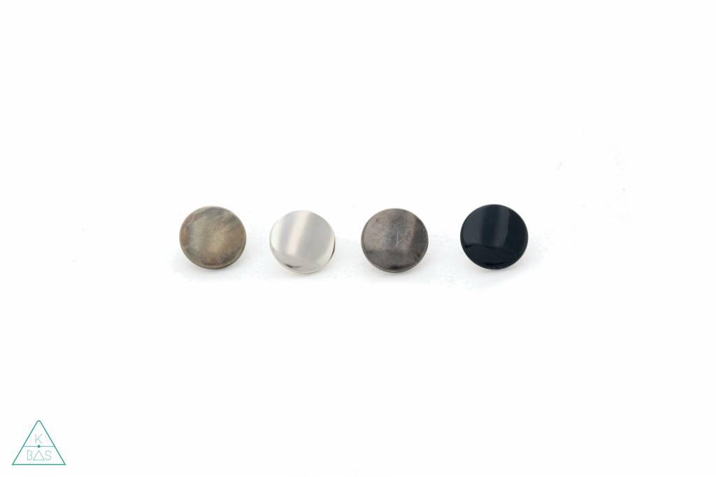 Drukknopen Zwart nikkel 15mm
