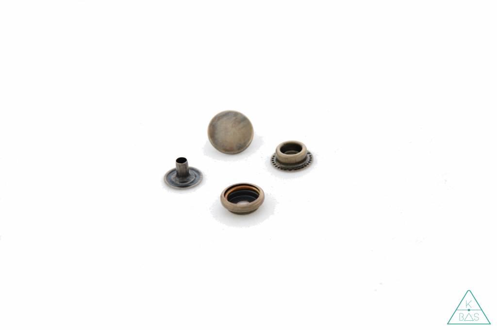 Drukknopen Brons 15mm