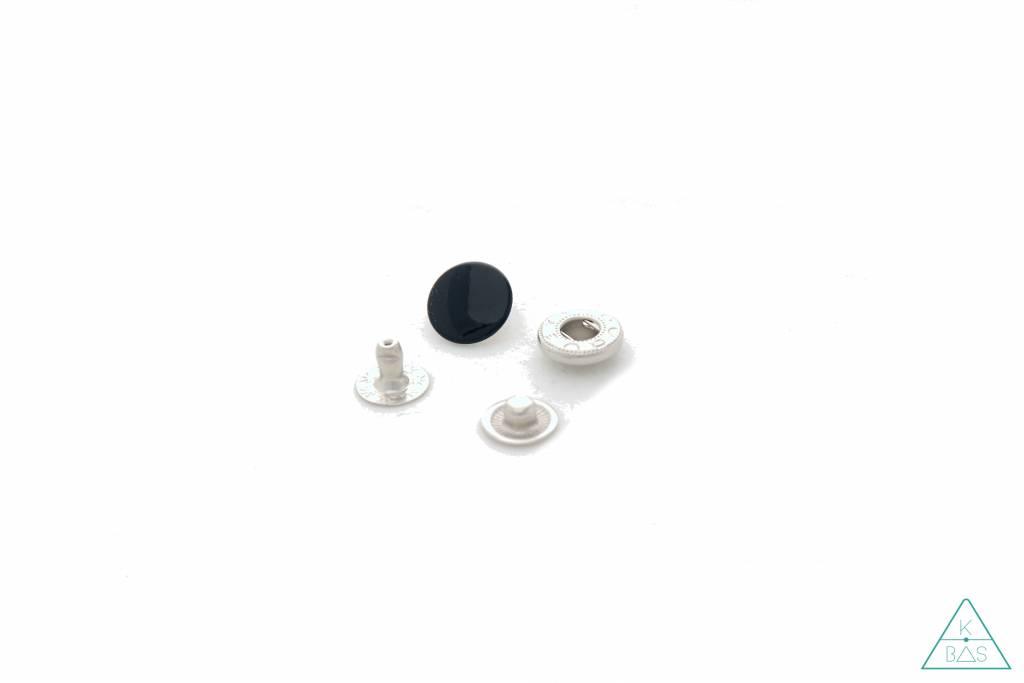 Drukknopen Zwart 12mm