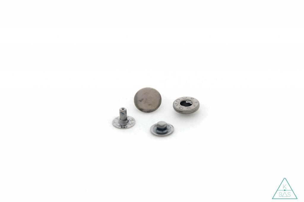 Drukknopen Zwart nikkel 12mm