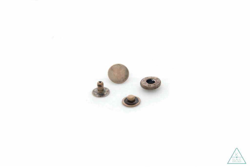 Drukknopen Brons 12mm