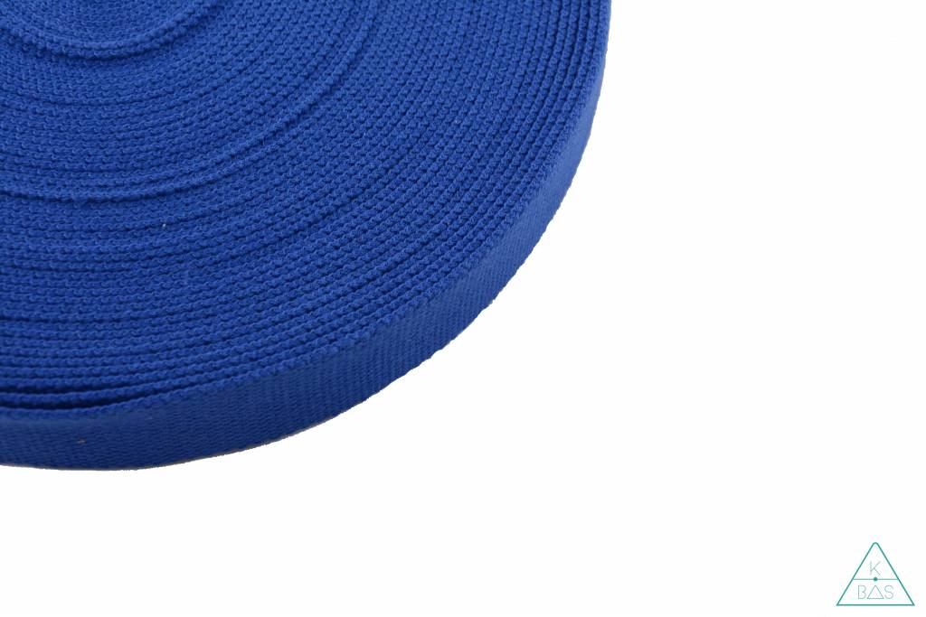 Katoenen tassenband Koningsblauw 32mm