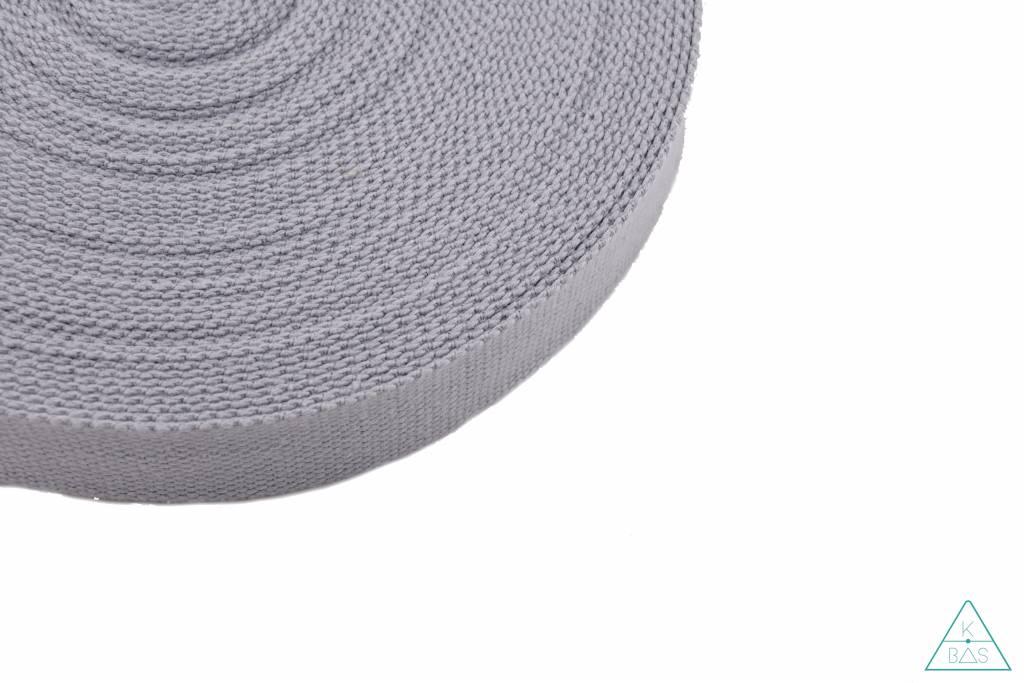 Katoenen tassenband Lichtgrijs 32mm