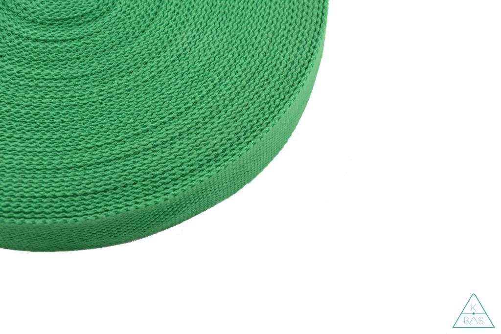 Katoenen tassenband Grasgroen 32mm