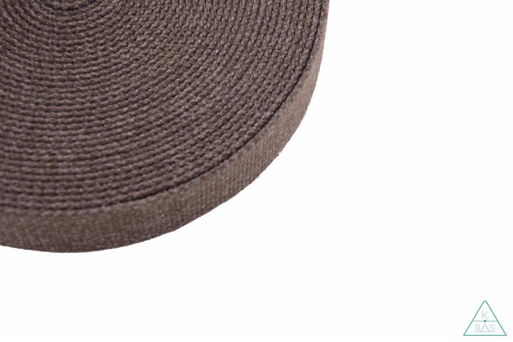 Katoenen tassenband Bruin Jeanslook 30mm