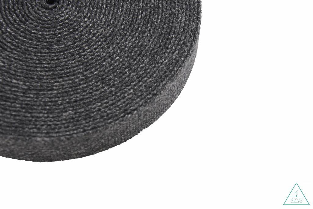 Katoenen tassenband Grijs Jeanslook 30mm