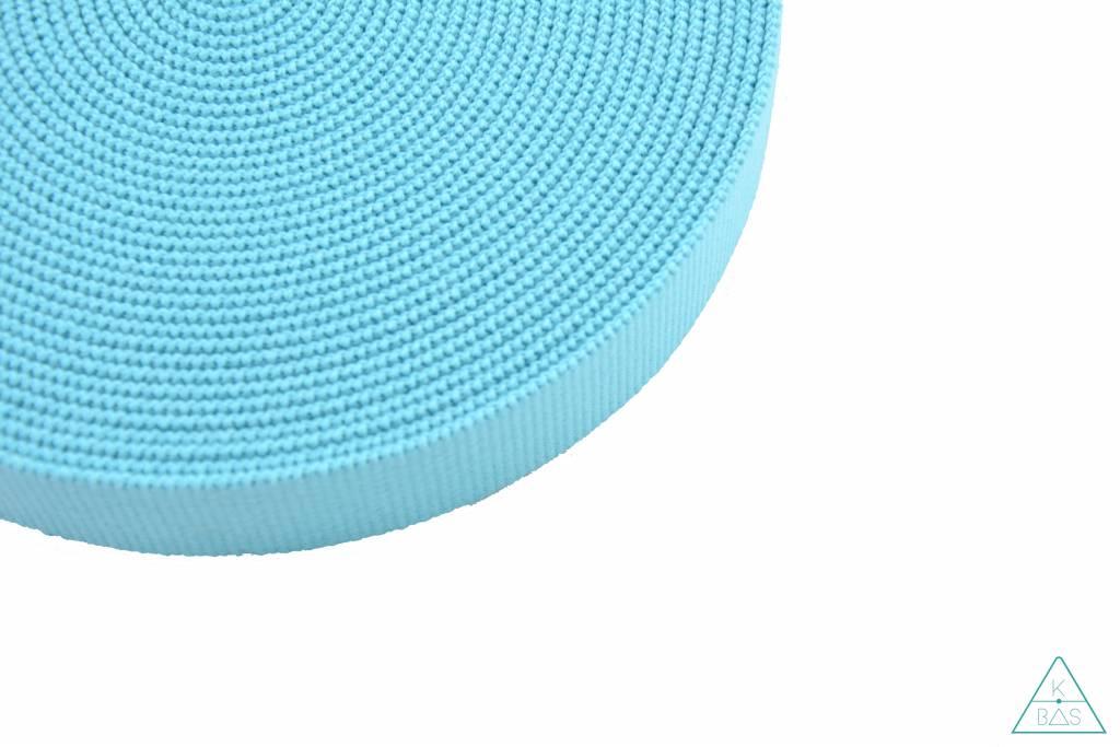 Katoenen tassenband Turquoise 30mm