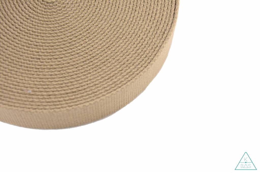 Katoenen tassenband Zand 30mm