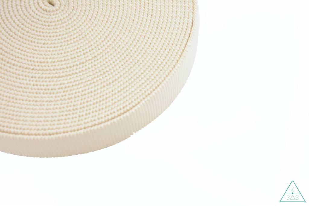 Katoenen tassenband Ivoor 30mm