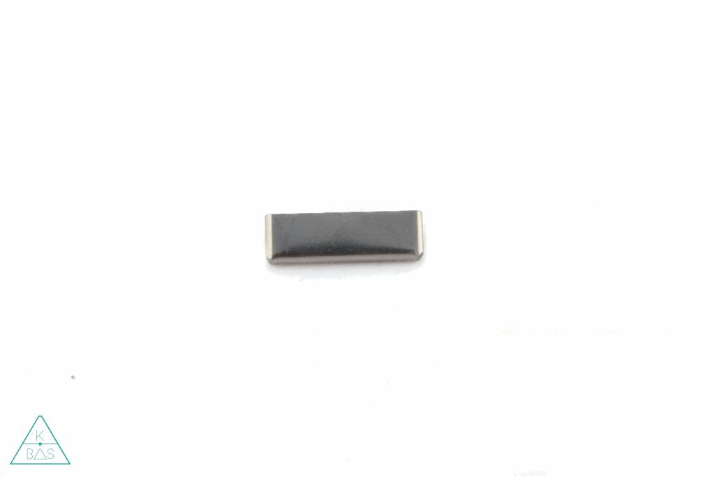 Riemklem Zwart nikkel 40mm