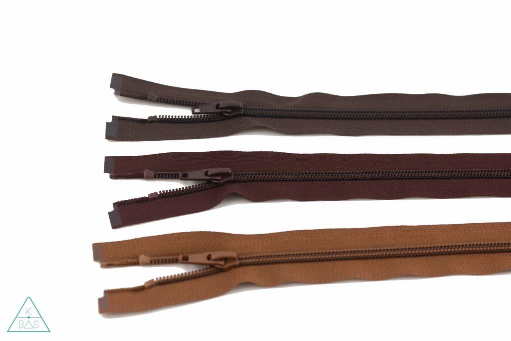 YKK Deelbare Spiraalrits 65cm Roodbruin