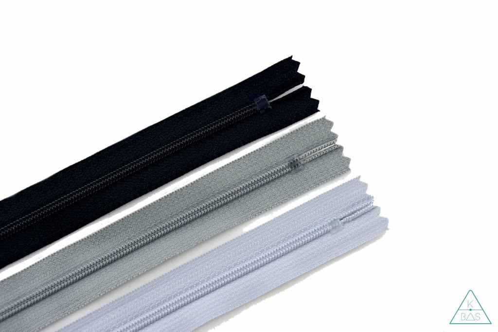 YKK Spiraalrits Niet-Deelbaar 25cm Zwart