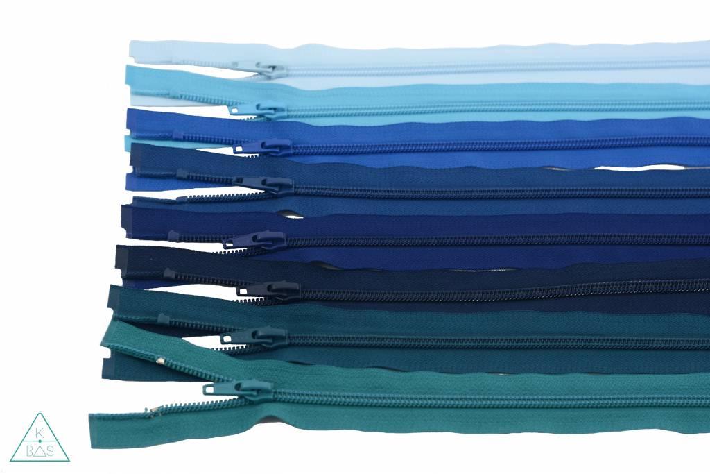 YKK Deelbare Spiraalrits 45cm Lichtblauw