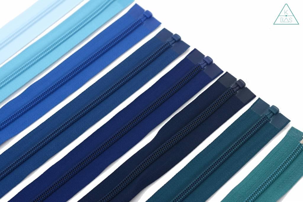 YKK Deelbare  Spiraalrits 45cm Jeansblauw